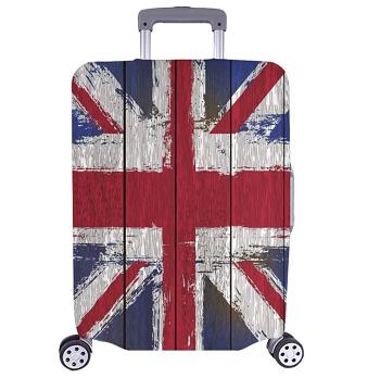 Grunged Union Jack Luggage
