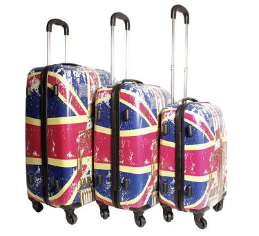 Set of Union Jack Luggage