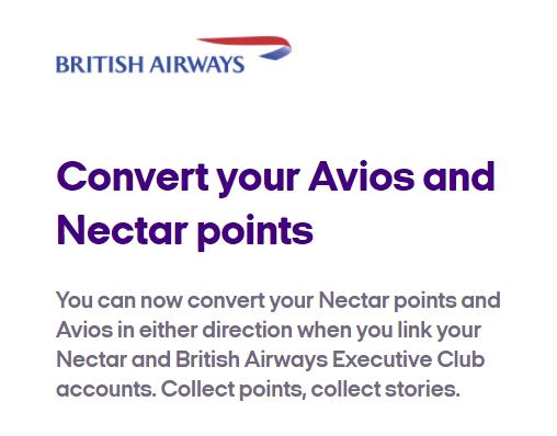 Link Nectar Avios Accounts